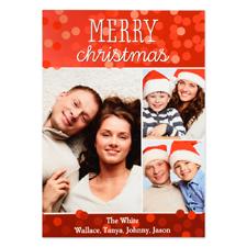 Carte photo personnalisée joyeux Noël trois collage