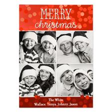 Carte photo personnalisée joyeux Noël quatre collage