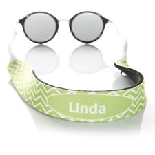 Sangle de lunettes de soleil monogrammée chevron lime