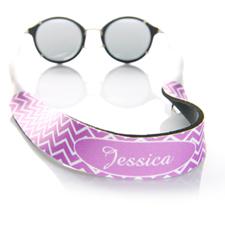 Sangle de lunettes de soleil monogrammée chevron lavande