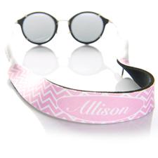 Sangle de lunettes de soleil monogrammée chevron rose