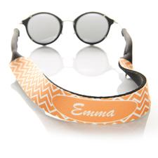 Sangle de lunettes de soleil monogrammée chevron orange