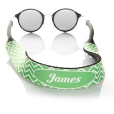 Sangle de lunettes de soleil monogrammée chevron vert