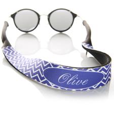 Sangle de lunettes de soleil monogrammée chevron violet