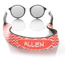 Sangle de lunettes de soleil monogrammée chevron rouge
