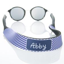 Sangle de lunettes de soleil monogrammée rayure violette