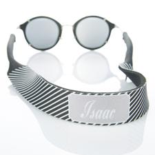 Sangle de lunettes de soleil monogrammée rayure noire