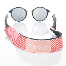 Sangle de lunettes de soleil monogrammée rayure rouge