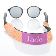 Sangle de lunettes de soleil monogrammée quadrilobe orange