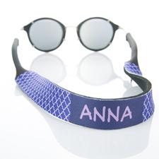 Sangle de lunettes de soleil monogrammée quadrilobe violet