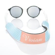 Sangle de lunettes de soleil monogrammée quadrilobe bleu clair