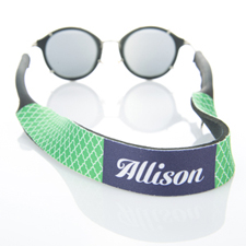 Sangle de lunettes de soleil monogrammée quadrilobe vert
