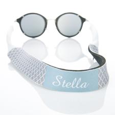 Sangle de lunettes de soleil monogrammée quadrilobe gris