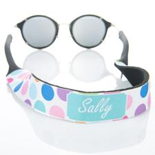Sangle de lunettes de soleil monogrammée point coloré