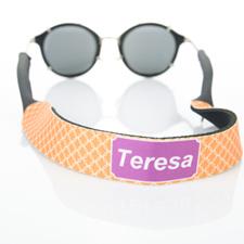 Sangle de lunettes de soleil monogrammée cercle entrelacé orange