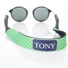 Sangle de lunettes de soleil monogrammée cercle entrelacé vert