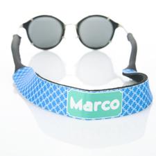 Sangle de lunettes de soleil monogrammée cercle entrelacé bleu