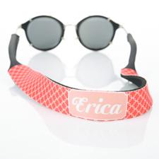 Sangle de lunettes de soleil monogrammée cercle entrelacé rouge