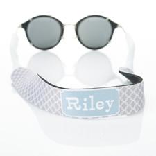 Sangle de lunettes de soleil mongorammée cercle entrelacé gris