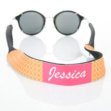 Sangle de lunettes de soleil monogrammée cercle orange