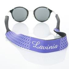 Sangle de lunettes de soleil monogrammée cercle violet