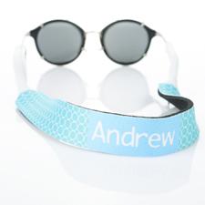Sangle de lunettes de soleil monogrammée cercle turquoise