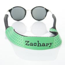 Sangle de lunettes de soleil monogrammée cercle vert