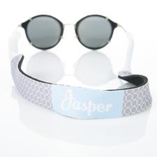 Sangle de lunettes de soleil monogrammée cercle gris