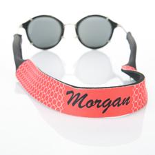 Sangle de lunettes de soleil monogrammée cercle rouge