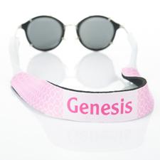 Sangle de lunettes de soleil monogrammée cercle rose