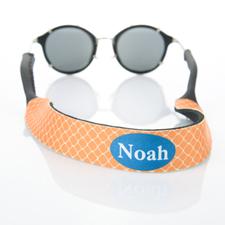 Sangle de lunettes de soleil monogramme personnalisée trèfle orange