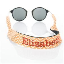 Sangle de lunettes de soleil broderie personnalisée chevron orange