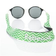 Sangle de lunettes de soleil broderie chevron vert