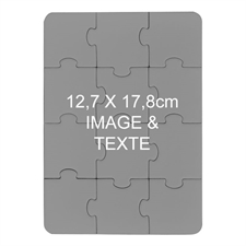 Puzzle magnétique personnalisé  12,7 x 17,78 cm, portrait