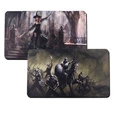 Tapis de jeu en caoutchouc impression personnalisée, 2 côtés 35,56 x 60,96 cm