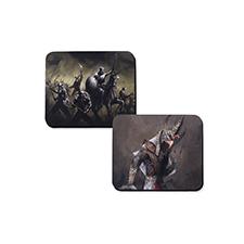 Tapis de jeu en caoutchouc impression personnalisée, 2 côtés 28,95 x 23,87 cm