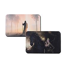 Tapis de jeu en caoutchouc impression personnalisée, 2 côtés 40,64 x 25,4 cm