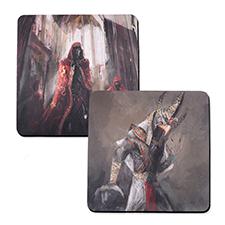 Tapis de jeu en caoutchouc impression personnalisée, 2 côtés 45,72 x 45,72 cm
