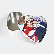 Boîte en étain en forme de coeur conception personnalisée, large