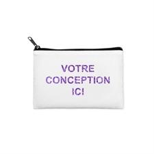 3.5x6 Custom Photo Glitter Text Cosmetic Bag, Black Zipper (Custom 2-sides)