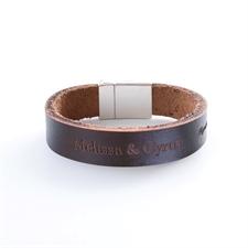 Bracelet en cuir personnalisé monogrammé