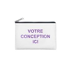 3.5x6 Custom Photo Glitter Text Cosmetic Bag, Silver Zipper (Custom 2-sides)