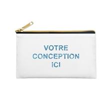 4x7 Personalized Image Glitter Cosmetic Bag, Gold Zipper (Custom 2-sides)
