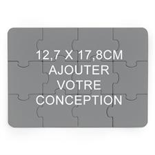 Petit puzzle en bois 12,7 x 17,78 cm (paysage, 12 pièces)