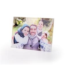 Impression photo sur verre personnalisée avec socle 17,78 x 12,7 cm, paysage