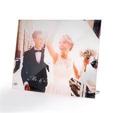 Personnalisez impression photo sur verre avec socle 25,4 x 20,32 cm, paysage