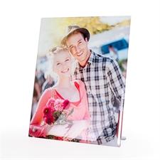 Concevez votre propre impression photo sur verre avec socle 20,32 x 25,4 cm, portrait