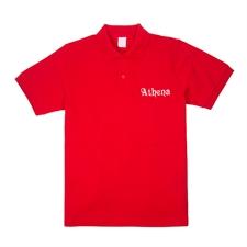 Polo rouge brodé personnalisable adulte XS