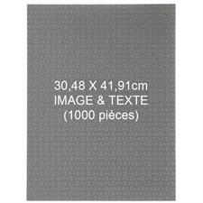 Puzzle personnalisé de 1000 pièces 30,5 x 40,5 cm - Portrait