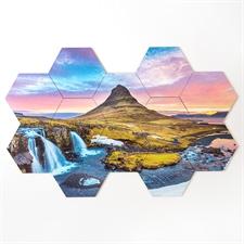 Créez votre propre puzzle de sous-verre hexagonal Jeu de 12 pièces